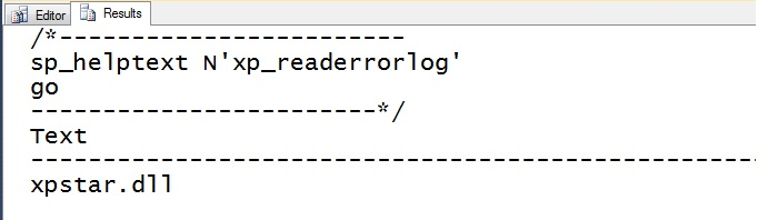 xp_readerrorlog