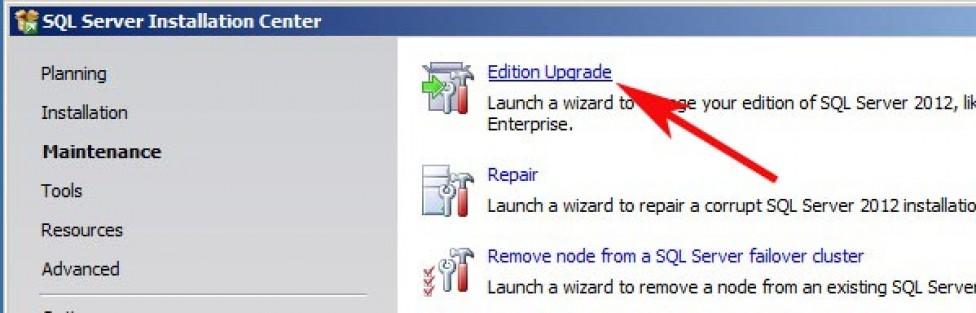 Upgrade SQL Server 2012 Standard to Enterprise
