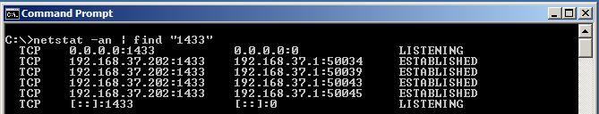 Windows Netstat Find Results