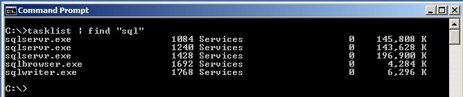 Windows Tasklist Find Results