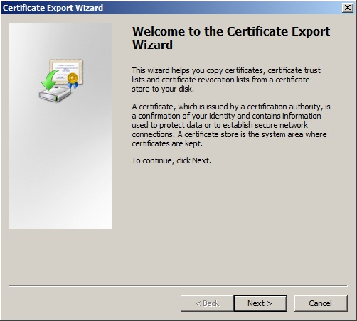 CertificateExportWizard