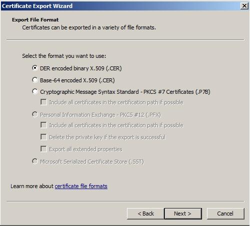 ExportFileFormat.X.509