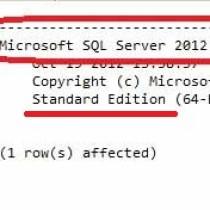 SQL Server 2012 SP1 – Standard Edition – 11.0.5058.0