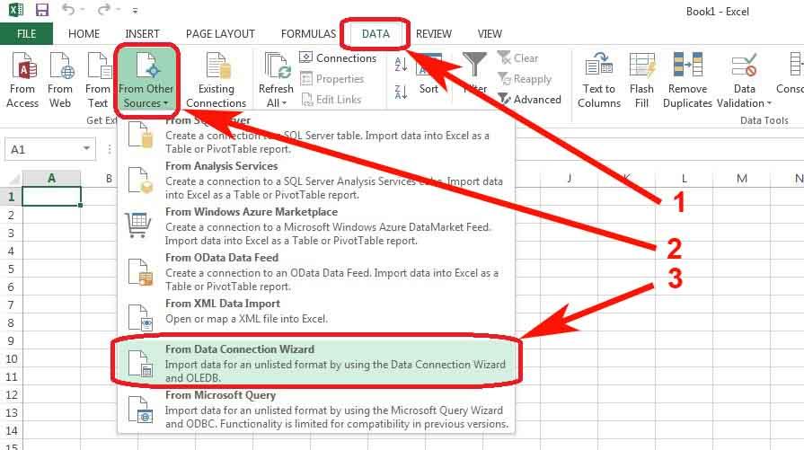 Excel Setup Connection