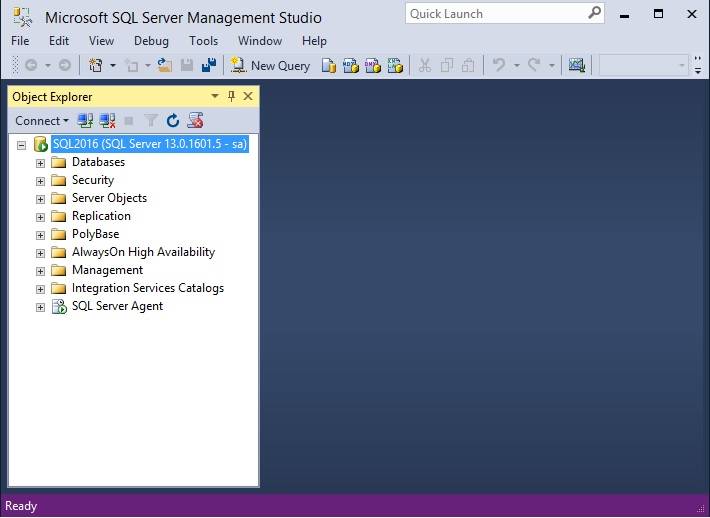 SQL Server Management Studio 2016
