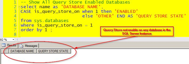 Check to see if the Query Store is Enabled on the database