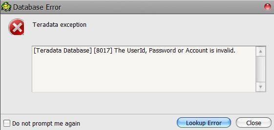 Toad DataPoint Login Error