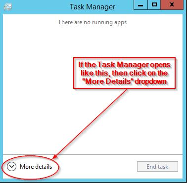 View the More Details in the Task Manager