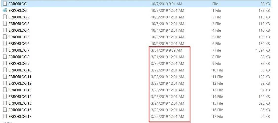 Errorlog Directory