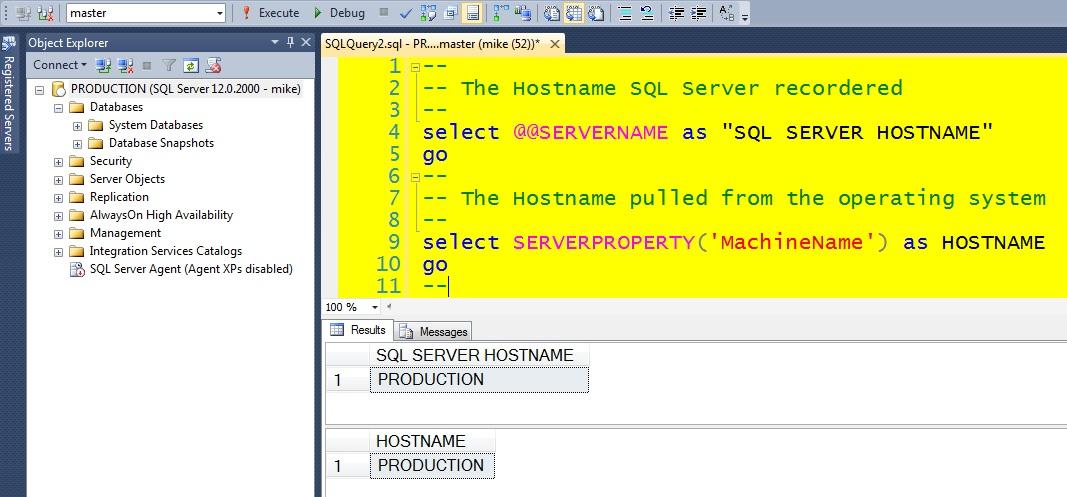 how to find server hostname