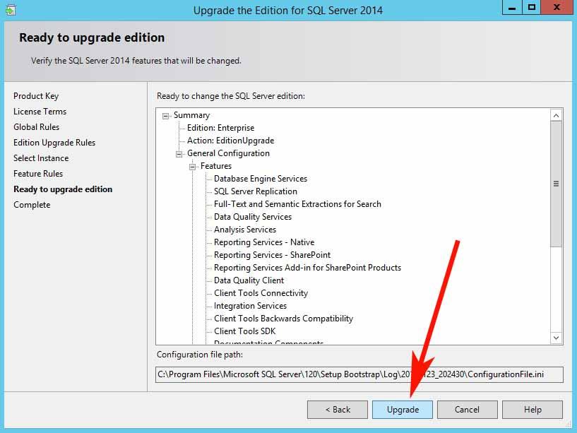 Upgrade SQL Server 2014 Standard to Enterprise